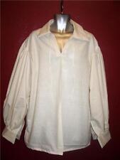 Jack Sparrow Renaissance Peasant Pirate Poet Costume Shirt Medium