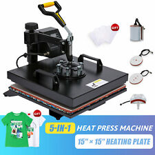 15x15 5 In 1 Heat Press Machine Professional T Shirt Press For Cups Shirts More