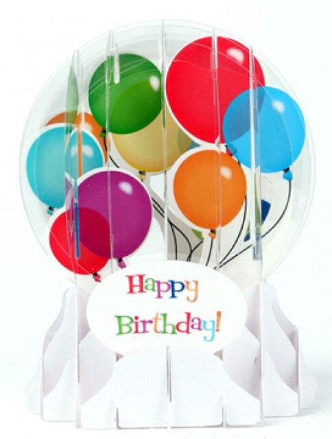 3d Pop Up Everyday Snow Globe Greeting Card Birthday Balloons Ebay