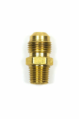 Brass Propane Hose Adapter Ends 3//8 Male Flare x 1//4 Male Elbow