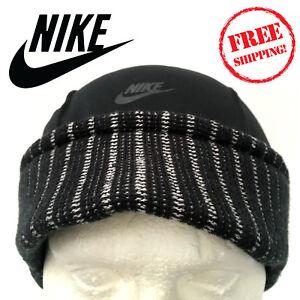 ebfde9d2b3db2 Nike Air TN Mens Urban Short Peak Stretch Fit Beanie Hat Black ...