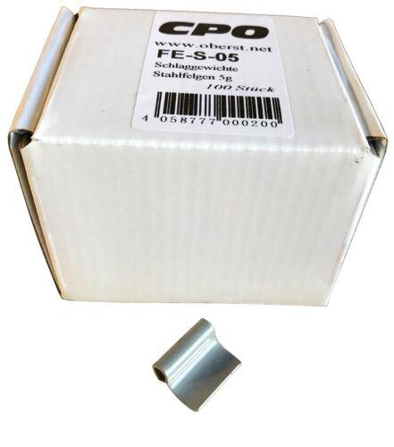 100 Premium Schlaggewichte Auswuchtgewichte 5g für Stahlfelgen 0,5kg NEU