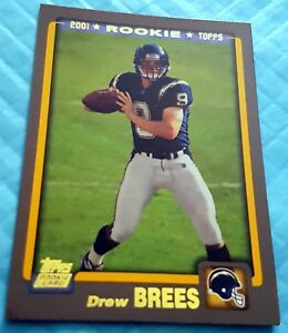 DREW-BREES-2012-Topps-Reprint-2001-Rookie-Card-RC-Lot-of-3-Superbowl-MVP-Saints
