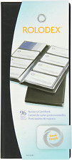 Rolodex Vinyl Business Card Book With A Z Tabs Holds 96 Cards Of 225 X 4 Black