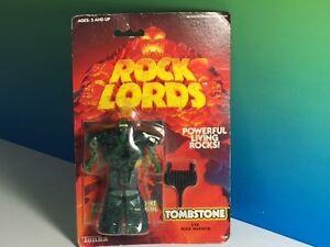 1986 Tonka Toys Vintage Rock Lords Action Figure Moc Pierre tombale vivante puissante