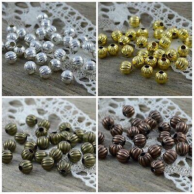 100 älter Rotkupfer Spacer Perlen Beads Metall Perlen 8x8mm P//