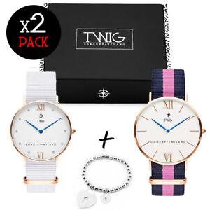 Coppia orologi TWIG PACK donna + bracciale cuore