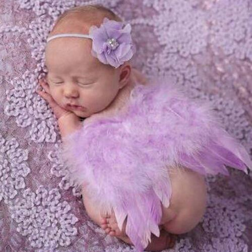Lovely Newborn Infant Girl Baby Kids Feather Bandeau /& ailes d/'ange Photo Prop