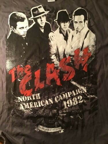 The Clash North American Campaign 1982 T Shirt XXL - image 1