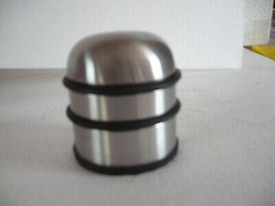 butoir de porte arrêt de porte 1.1 kg  acier inox couleur argent ht 74 mm d 76