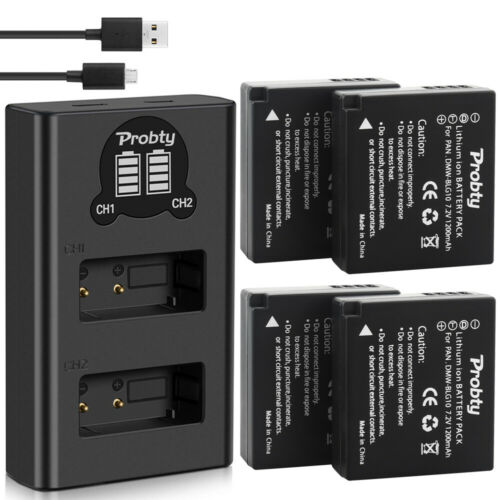 DMW-BLG10 Cargador de Batería para Panasonic Lumix DC-ZS80 o GX9 LX100 II ZS70 GX80