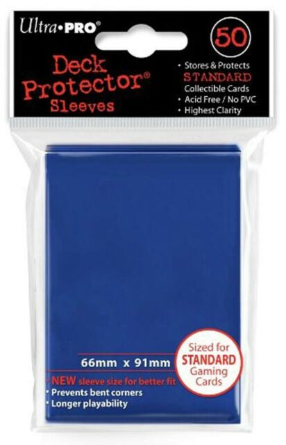 Ultra Pro Tsunami Blue 50 Count Pack Standard Deck Protector Sleeves Pre 2018