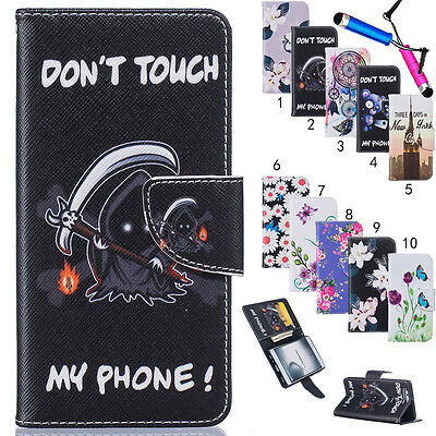 Luxury Flip PU Leather Card Slots Cover Case Wallet For Nokia Motorola LG Huawei