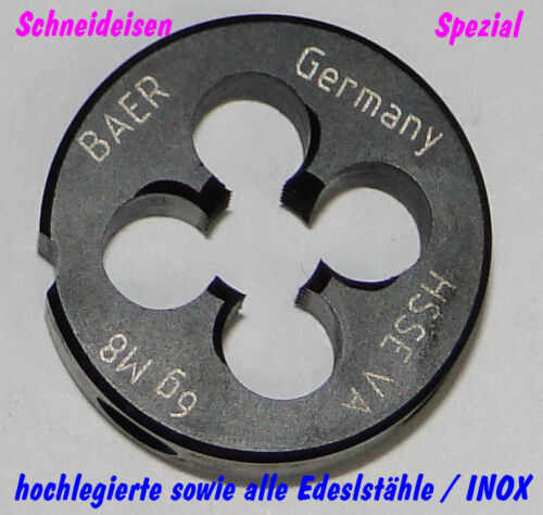 INOX M 16 Schneideisen spezial für hochlegierte Stähle Edelstähle V2A V4A