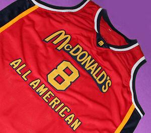 finest selection 845f4 e5501 KOBE BRYANT #33 McDONALD'S ALL AMERICAN JERSEY McDONALD RED ...