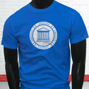 Image is loading VINTAGE-ATHENS-GREECE-PARTHENON-PRIDE-TOURIST-Mens-Blue- 840f8114f23