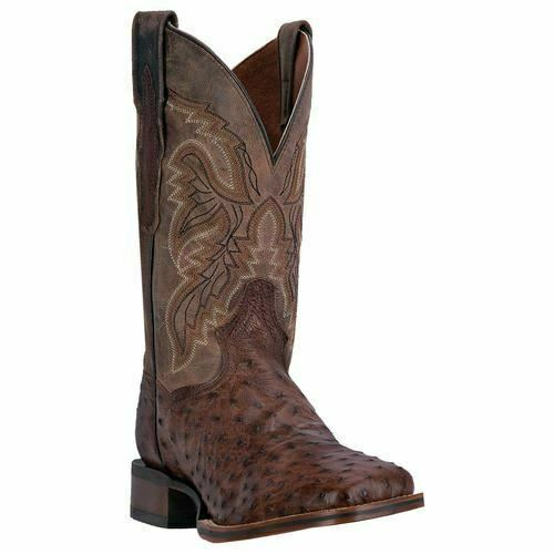 Dan Post Homme Alamosa Western Cowboy Véritable Autruche Bottes DP3875 chocolat