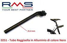 Tubo/Canotto Reggi-Sella RMS in Alluminio Nero 25,4 per Bici 26-28 Corsa - Pista