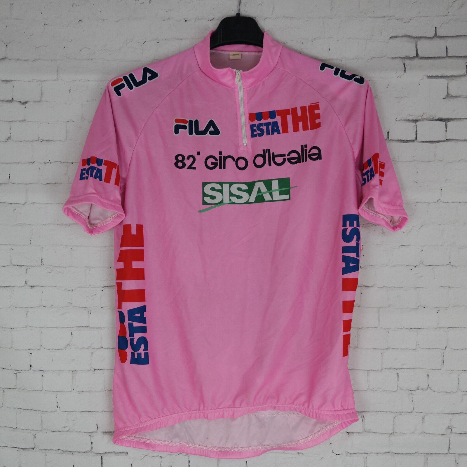 Maglia 82° Giro D' ITALIA Edizione 1999 PANTANI MAGLIA rosa ESTA THE Sisal FILA