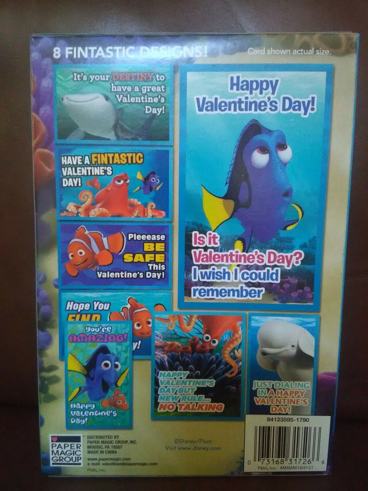 Valentines Day Cards Boxes Of 32 Disney Pixar Finding Dory 8 Designs