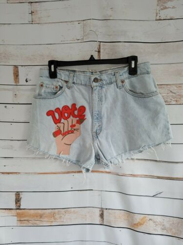 Custom Painted Levi's Jean Shorts