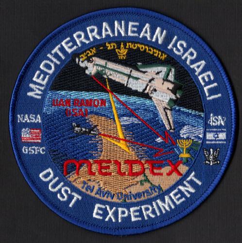 MEIDEX MEDITERRANEAN ISRAELI DUST EXPERIMENT NASA GSFC SHUTTLE MISSION PATCH