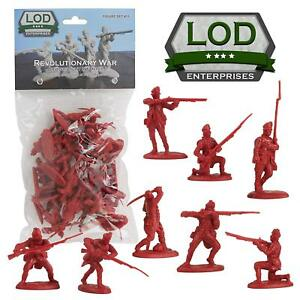 BARZSO-LOD-American-Revolution-British-Light-Infantry-16-Toy-Soldiers-FREE-SHIP