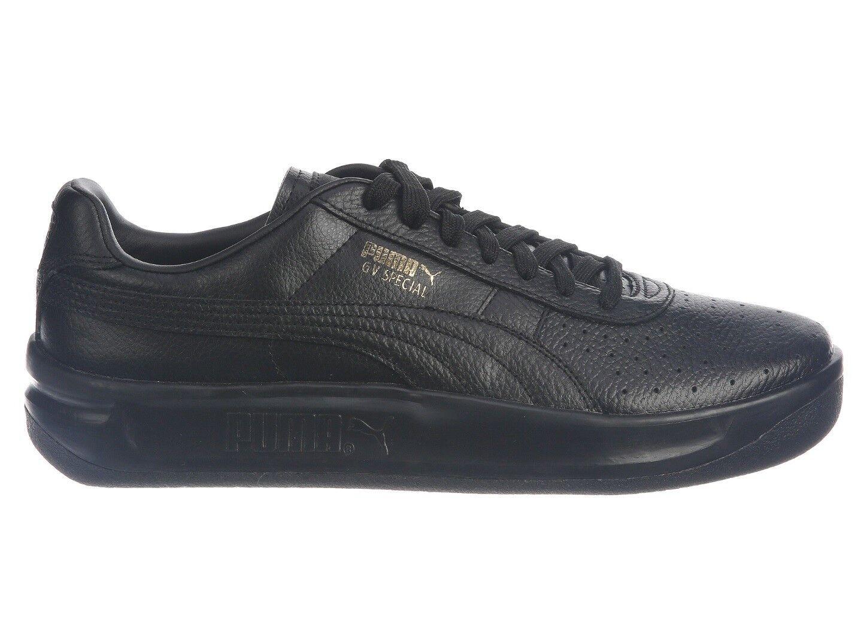 Puma GV Especial Para Hombre De Cuero Negro Dorado 366613-02 zapatos atléticos tamaño 12