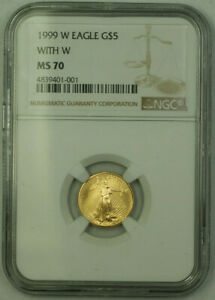 1999-W-Emergency-Issue-5-1-10th-oz-American-Gold-Eagle-AGE-Coin-NGC-MS-70