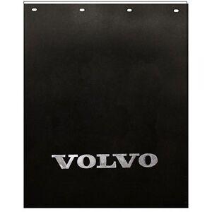 Semi Mud Flaps >> Volvo Trucks 24 X 30 Black Silver Poly Semi Truck Mud Flaps Pair