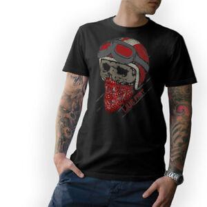 Biker-T-Shirt-Live-Fast-SKULL-MOTO-CACCIAVITI-CAFE-RACER-Oldschool-s-5xl