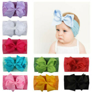 Fashion-Girl-Baby-Toddler-Turban-Headband-Hair-Band-Bow-Accessories-Headwear