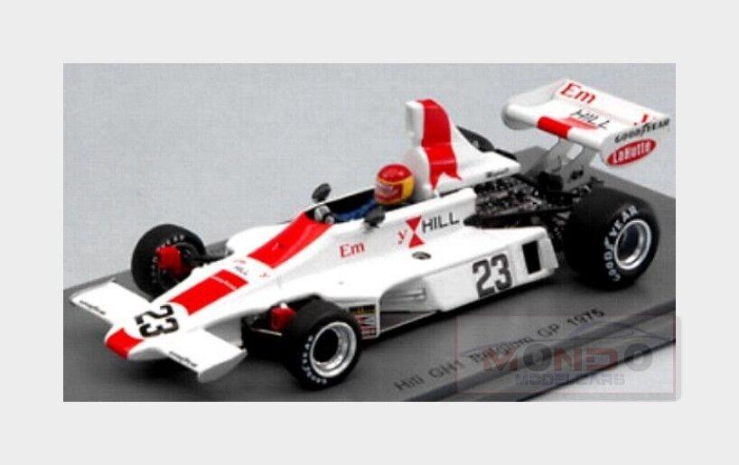 Hill F1  23 Belgium Gp 1975 T.Brise blanc rouge SPARK 1 43 S5672
