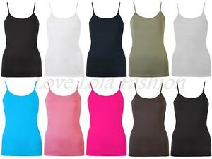 d6a4f678b58864 Womens Vests Ladies Gym Vest Lined Bra Support Cami Tops Brody & Co ...