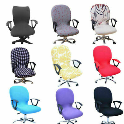 Universal Stretch Antimacassar Chair Cover Home Office Study Chair Purple