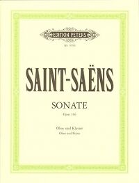 Charmant Saint-saens Sonate Op166 Hautbois-afficher Le Titre D'origine à Tout Prix