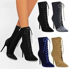 88311f66969 item 2 Ladies Womens Lace Up Stretchy High Heel Stiletto Ankle Boots Party  Shoes Size -Ladies Womens Lace Up Stretchy High Heel Stiletto Ankle Boots  Party ...