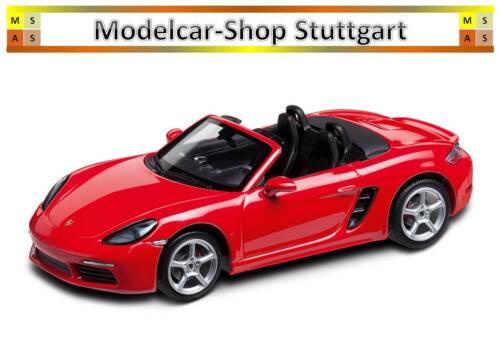 982 Boxster S indischrot Minichamps 1:43 fabrikneu Porsche 718