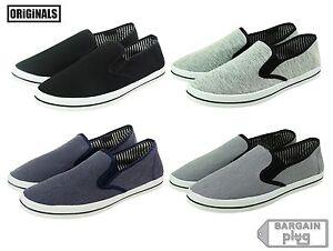 Mens-Canvas-Shoes-Slip-On-Casual-Colors-Sneakers-Kicks-Originals-Lowtop-Footwear