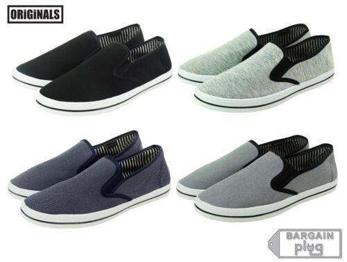 Mens Canvas Shoes Slip On Casual Colors Sneakers Kicks Originals Lowtop Footwear