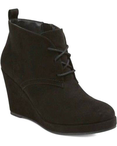 dv by dolce vita Terri Wedge Booties NEW RETAILS $33 Black Various Sizes