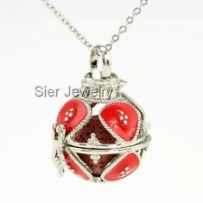 Royal Aromatherapy Perfume Essential Oil Diffuser Necklace Locket 2 Lava Stones