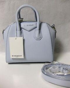 1790-Givenchy-AUTH-NEW-Baby-Blue-Goat-Grained-Leather-Antigona-Mini-Duffel-Bag