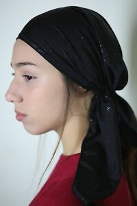 Head Scarf Tichel Hair Snood Pre Tied Bandana Jewish Chemo Hat Headband Skull