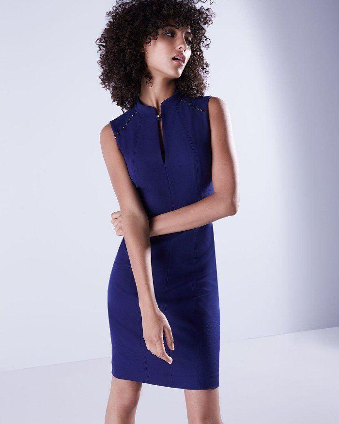 Elie Tahari Regal Blau Keyhole Michelle Sheath Dress 16 NWT E593