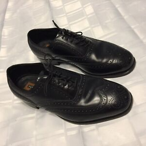 Florsheim-Vero-Cuoio-Black-Leather-Dress-Shoes-Size-8