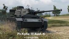 World of Tanks Gamescom 2018 Bonuscode Panzer Pz.Kpfw. III AUSF. K + Stellplatz