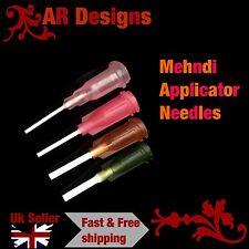 4x Needles For Mehndi Henna Applicator Bottle Temporary Body Art Tattoo