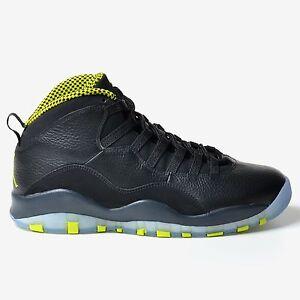 8e6b38991b8 Air Jordan 10 Retro Venom Green 2014 Black Anthracite Nike Men's X ...