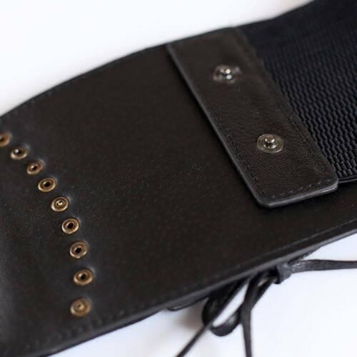 Women Fashion Leather Wide Waist Belt Elastic Stretch Corset Cinch Waistband New